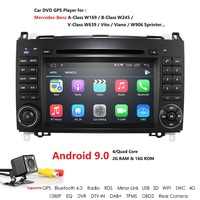 Android 9 2Din Auto Radio Car DVD GPS Head unit for Mercedes Benz B200 B Class W169 W245 Viano Vito W639 Sprinter W906 Bluetooth