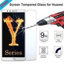 9H HD Toughed Explosion-proof Protective Glass for Huawei Y7 Prime Y6 Pro Y5 Lite Y3 Screen Protector on Huawei Y6 Y5 Y3 ii