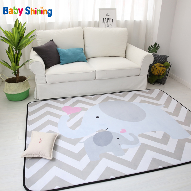Baby Shining Mat 1 5CM 0 6in Thickness Children Play Mat Velvet Carpet 150 200CM 60 Baby Shining Mat 1.5CM(0.6in) Thickness Children Play Mat Velvet Carpet 150*200CM(60*78.7in) Baby Crawling Mat Non-slip