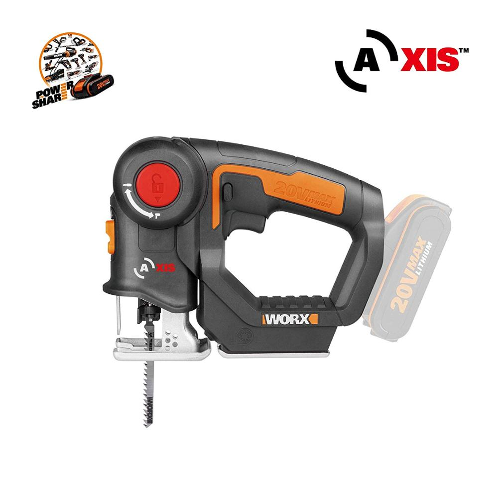 Free Shipping Worx WX550 Rechargeable 20V Li-Ion Battery Cordless Reciprocating Saw  Jig Saw