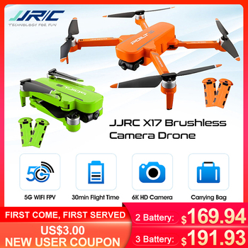 jjrc h67 flying santa claus w christmas songs rc quadcopter drone toy rtf for kids best gift present vs h36 eachine e011c e010 JJRC X17 GPS FPV 6K ESC HD Camera 5G WiFi Brushless 2-Axis Gimbal Optical Flow Positioning Foldable RC Drone PRO Quadcopter RTF