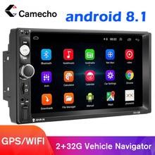 Podofo Android 8.1 2 Din samochód Multimedia radiowe wideo MP5 odtwarzacz uniwersalne radio GPS dla Volkswagen Nissan Hyundai Kia toyota