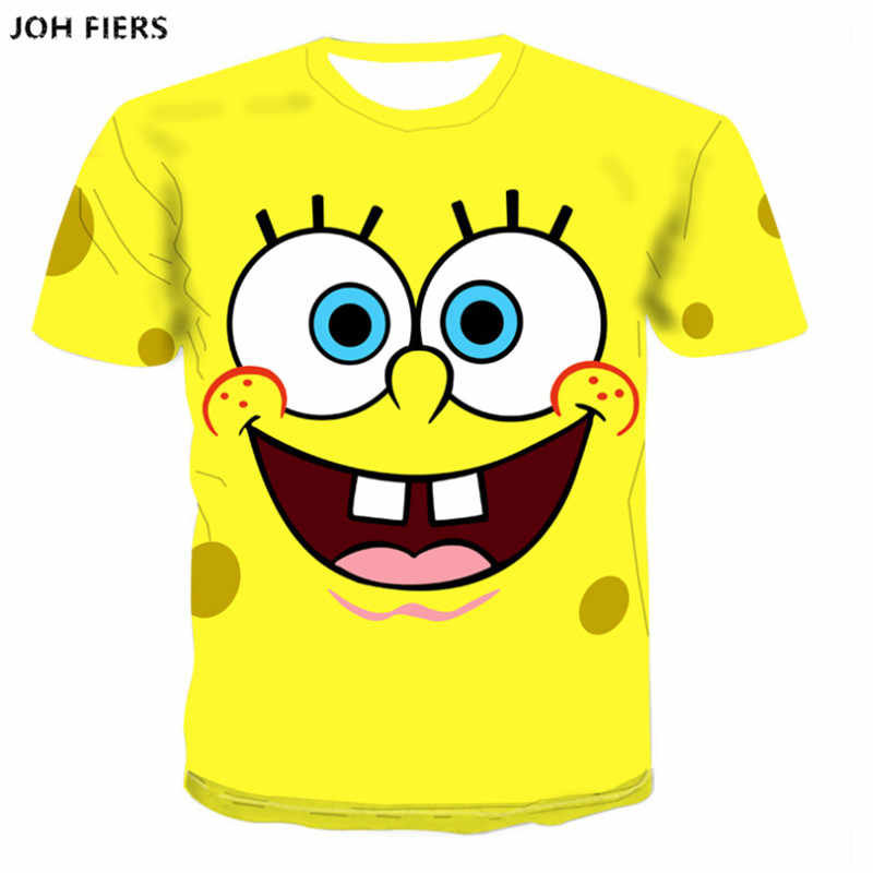SpongeBob SquarePants 3D Men T shirt Boys tops tees Summer Pokemon cartoon tshirt Men Harajuku Anime 3d t-shirt Asian Size S-6XL
