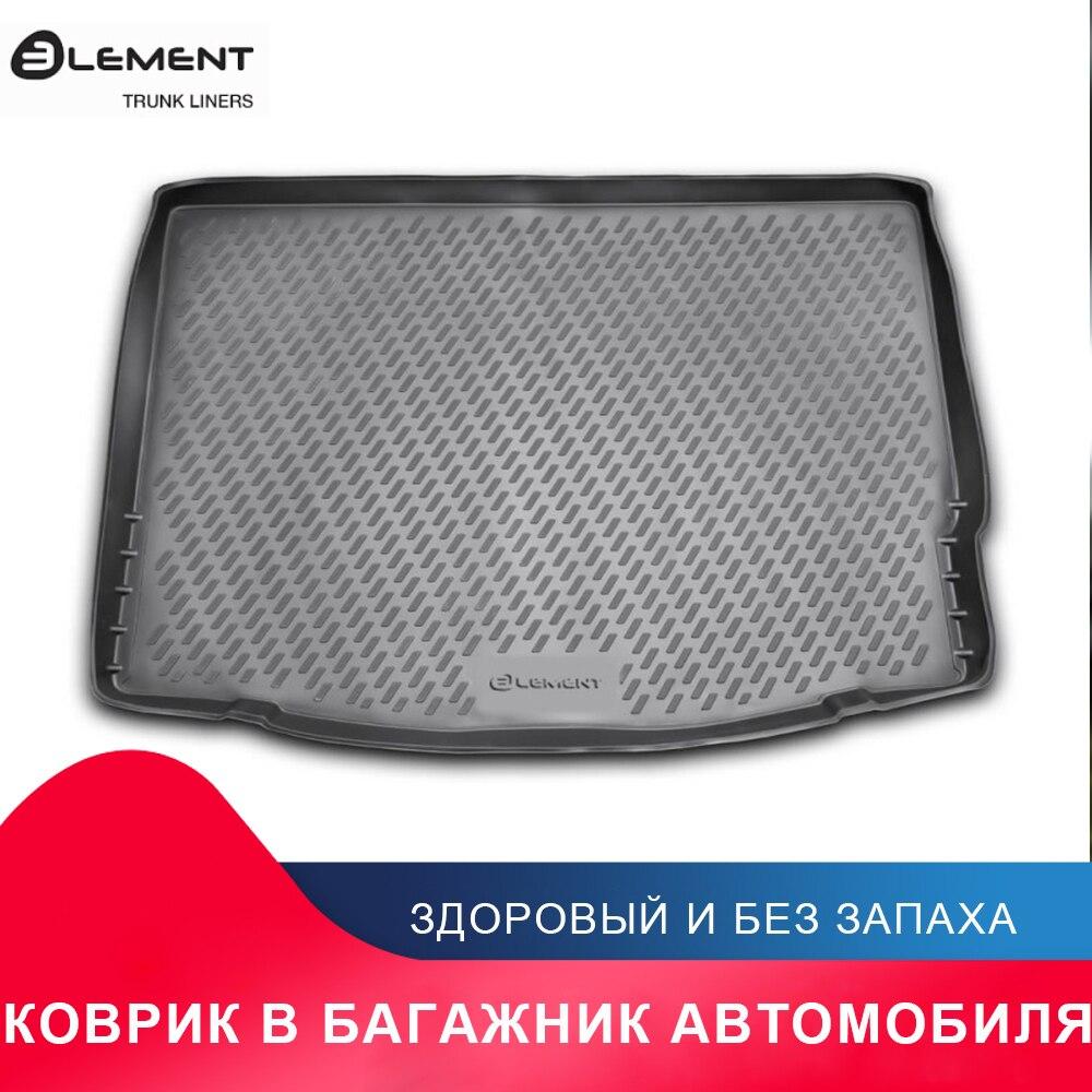 высококачественный противоскользящий жиронепроницаемый коврик в багажник для For FORD Focus 3, 04/2011-2015, хб. (полиуретан)