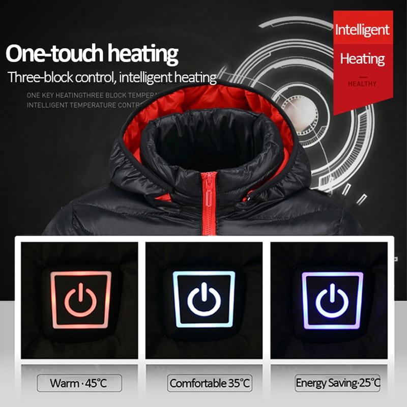 eletrica casaco de roupas termicas para caminhadas jaqueta aquecida 04