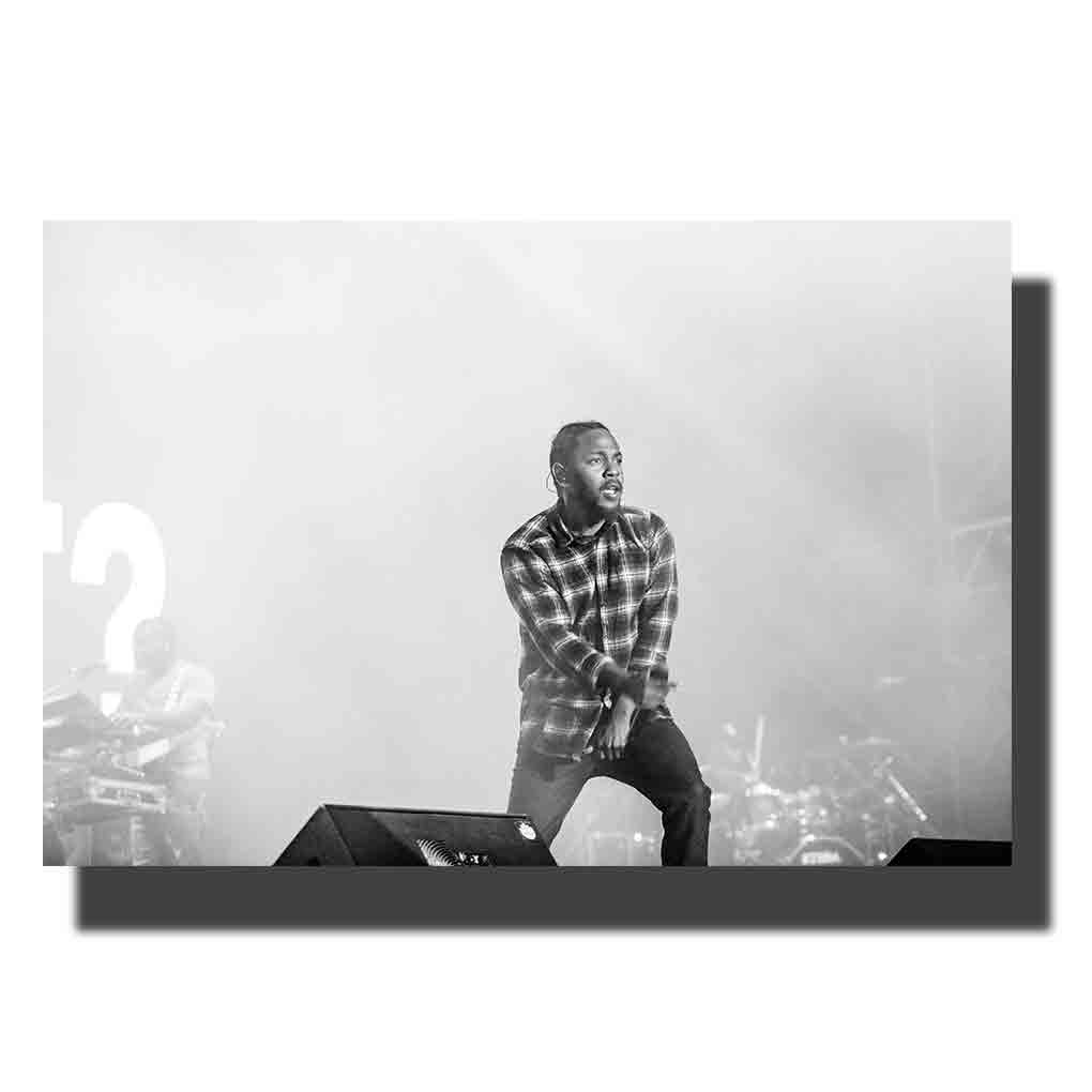 M628 Kendrick Lamar Hip Hop Artist Rapper silk poster 12x18 Print Canvas Wall Pictures Decoration 24x36in image