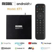 Mecool receptor de TV DVB T2 KT1 con WIFI Dual, decodificador de señal DVB T con certificado de Google, Android 10,0, Amlogic S905X4, BT5.0, 2GB, 16GB