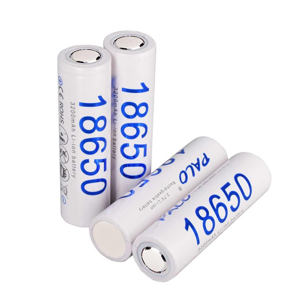 パロ 100% 新オリジナル 3.7V 3200 3000mah の 18650 バッテリー電源 18650 リチウムイオン充電式電池懐中電灯電池
