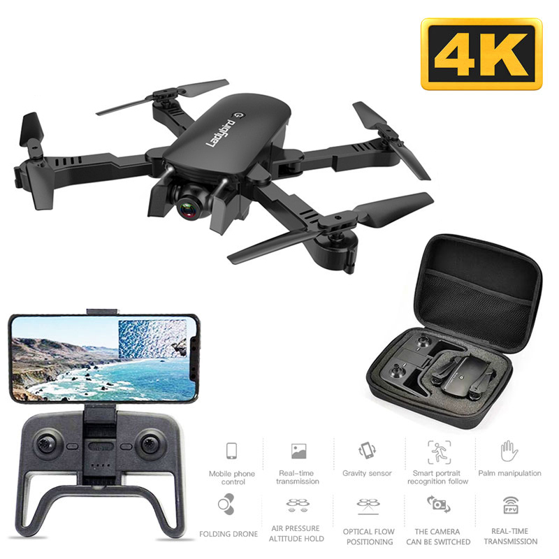 R8 Mini Drone 4k HD Camera Aerial Quadcopter Optical Flow Hover Smart Follow Dual Camera RC Control Helicopter With Storage Bag
