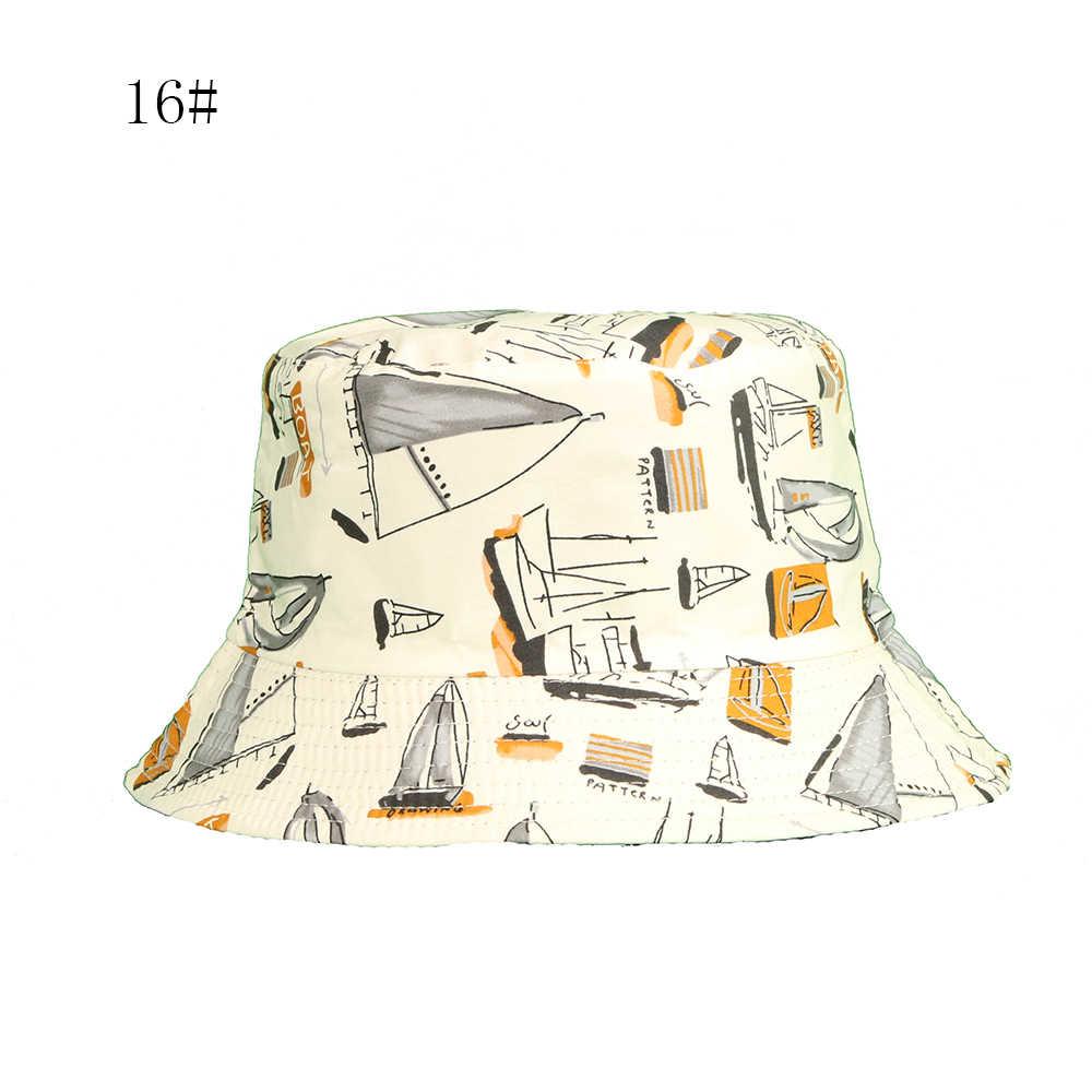 Best-panda di vendita di stampa cappello pescatore femminile surfer di birra di pesce design a doppia fronte di combattimento estate cappello maschile outdoor cappello del sole