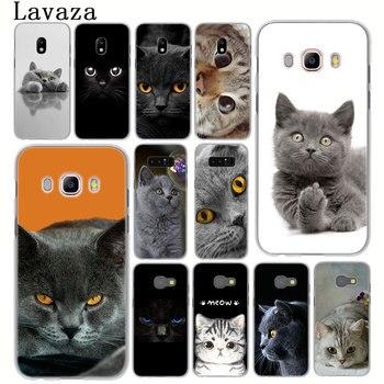 Перейти на Алиэкспресс и купить Британская; топ с рисунком кошки мяу чехол для телефона для samsung Galaxy J8 J7 Duo J6 J5 j4 plus 2018 2017 2016 J2 J3 ес и сша Prime 2015