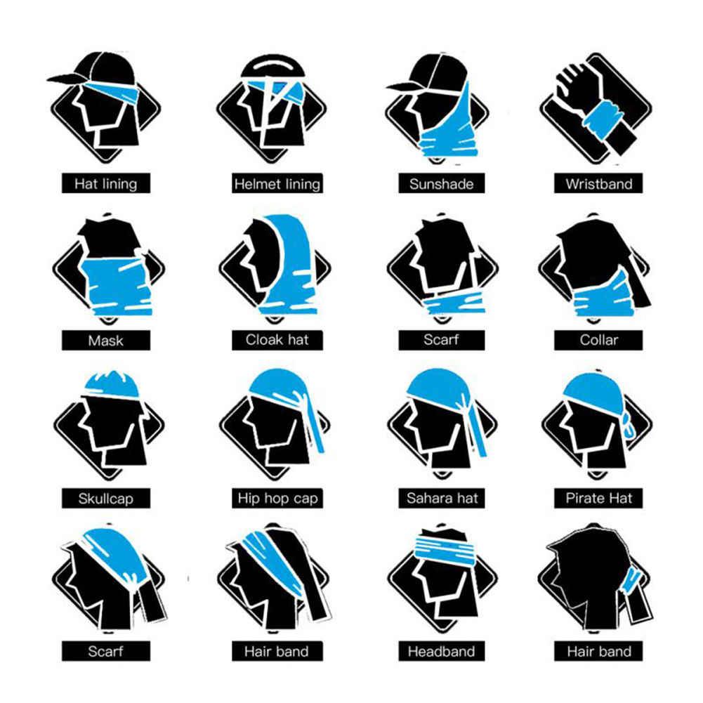 22 ألوان الجمجمة الدراجات قناع مكافحة الغبار التدريب التكتيكي CS بالاكلافا كول ركوب تزلج باندانا دراجة نارية رياضية وشاح تدفئة للرقبة