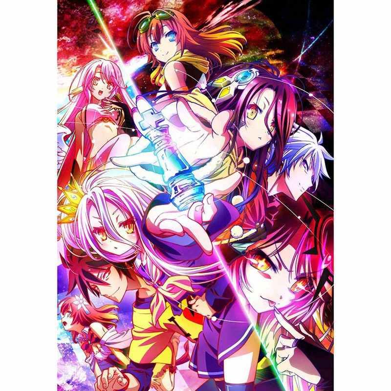 Anime No Game No Life Jibril Wall Scroll Poster Home Decor Holiday Gift 60*90CM