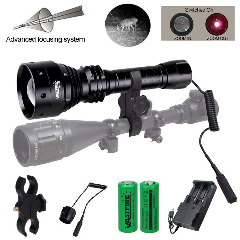 10W 850nm Infrared T67 Illuminator Ultra Range IR Torch Rechargeable Flashlight