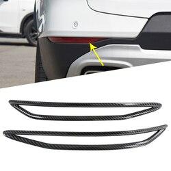 Luz de nevoeiro traseira da lâmpada nevoeiro luzes abs chrome capa guarnição adesivo para chevrolet blazer 2019 2020 acessórios do carro estilo fibra carbono