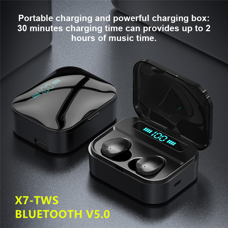 2019 Touch TWS Wahre Drahtlose Ohrhörer Bluetooth Ohrhörer Wasserdicht Headfrees mit 2200mAh Power Bank Für iPhone xiaomi huawei 5.0 <font><b>Earphones</b></font> 8D Stereo wireless bluetooth <font><b>earphone</b></font> Gaming headset for realme x2 pro Q x image