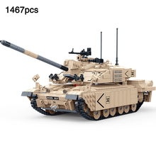 цена на Challenger II British Main Battle Tank compatible legoingly Military Tank Mini Army Figures Building Blocks Toys For Boys Gift