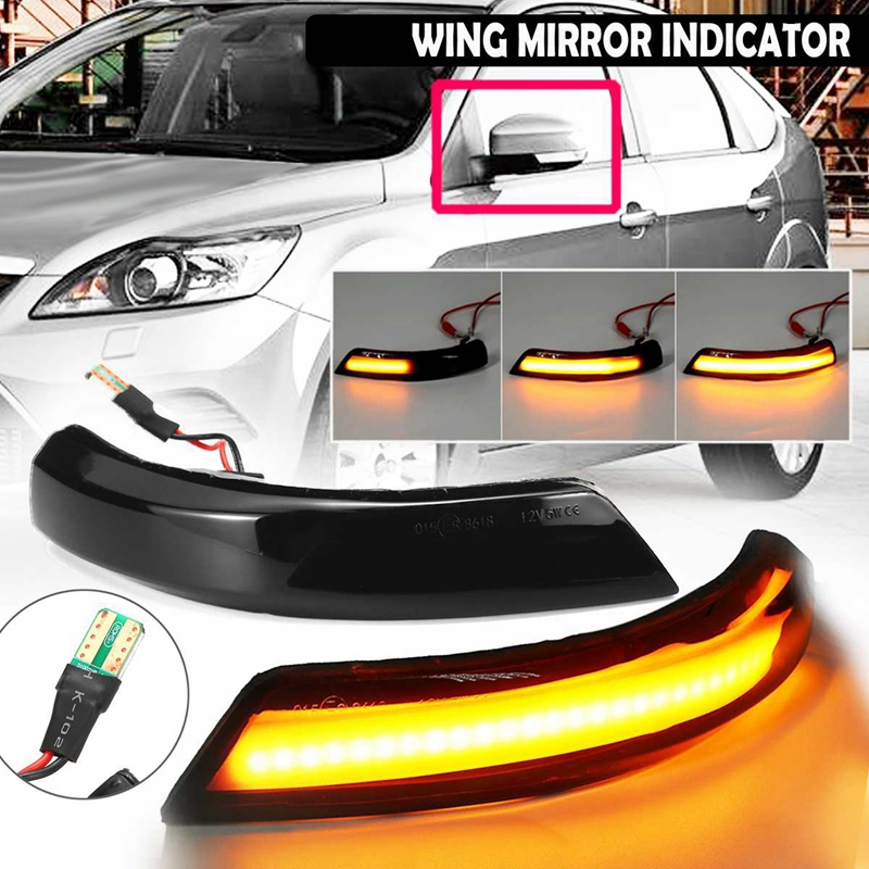 Car Dynamic Turn Signal <font><b>LED</b></font> Rearview Side Mirror Light Indicator Light for Fo-rd <font><b>Focus</b></font> 2 3 Mk2 <font><b>Mk3</b></font> Mondeo MK4 image