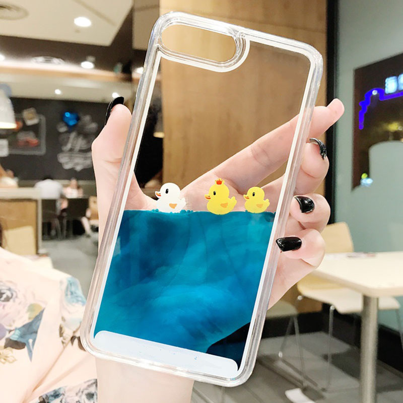 Hc3bfd4a47f1745e0a19cef14d4491a292 - Luxury Cartoon 3D Swimming Duck for iPhoneXS Animal Dynamic Liquid Quicksand Cover For iPhone 5 5S 5SE 6 6S 7 8 Plus Phone Cases
