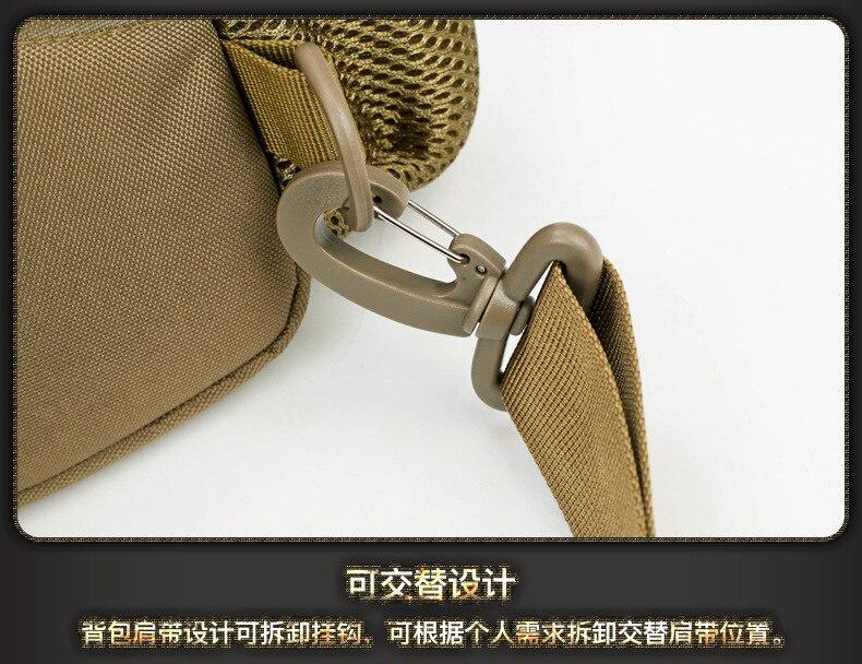Carregamento usb bolsa de ombro militar do