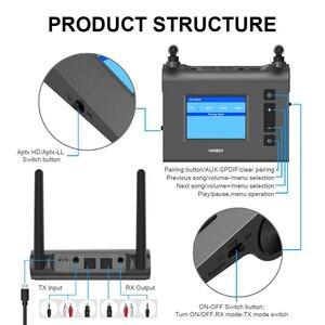 Image 4 - Transmisor receptor de Audio Bluetooth de largo alcance, 70M, para TV con antena Aptx HD, adaptador inalámbrico Spdif Optica AUX de baja latencia