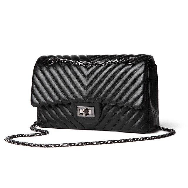 2020 ファッションキルティングレザーチェーンハンドバッグ女性の高級ショルダーバッグブランド有名なブラックダブルフラップのためのショッピングバッグ