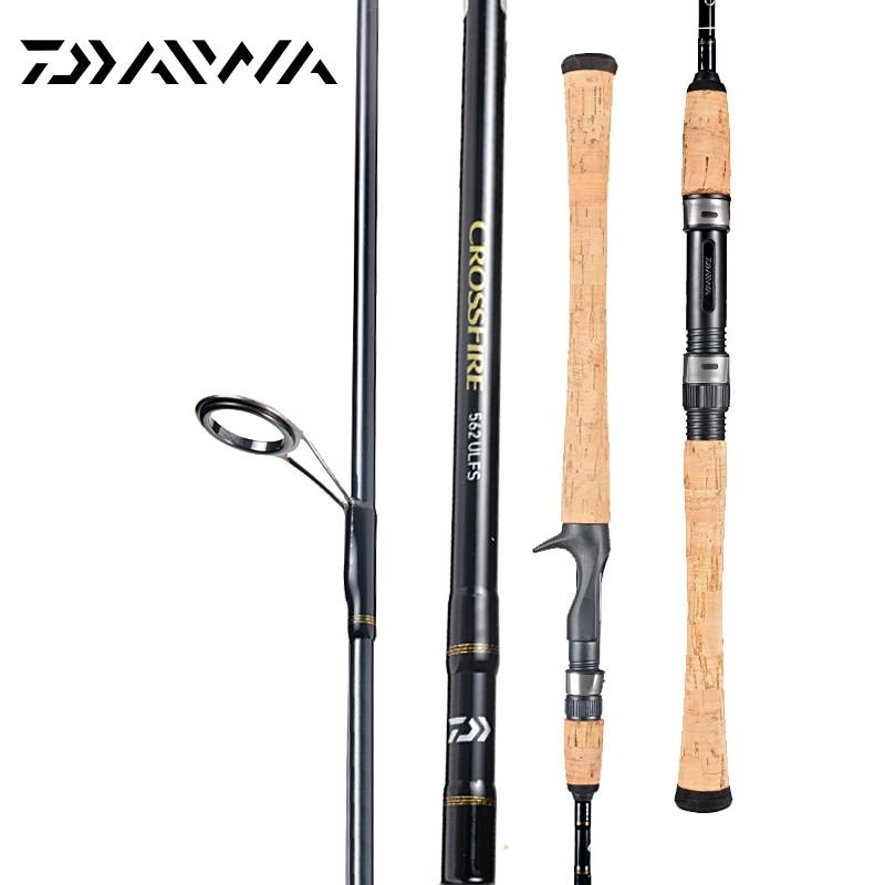 DAIWA Original CROSSFIRE 662MFB Spinning Casting Fishing Rod Fast Action M MH Power 1.98 2.13M Aluminum Carbon Fishing Stick