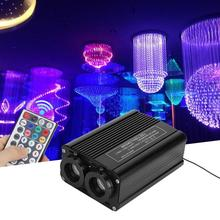 32W LED RGB Twinkle Fiber Optic Star Kit Lights With 28 Keys Remote Controller For Park Stage Light 200pcs 0 75mm x 2m colorful fiber optic lights rgb twinkle led star ceiling light kit for fiber optic light engine machine