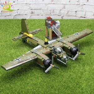 Image 5 - HUIQIBAO bloques de construcción del equipo Swat WW2, 559 Uds., caza militar, arma, soldado del ejército, figuras, juguetes para niños, regalo