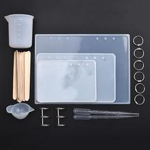 Silicone Casting Molds Tool Set For A5 A6 A7 Notebook Cover Casting Epoxy Resin Mould DIY Crafts Jewelry Making
