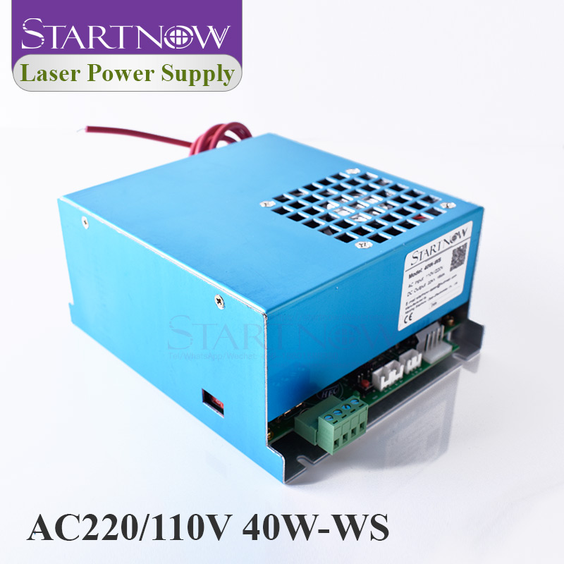 40W-WS MYJG-40 40W Co2 Laser Generator 110V 220V Universal High Voltage Power Supply For Laser Engraving Marking Cutting Machine