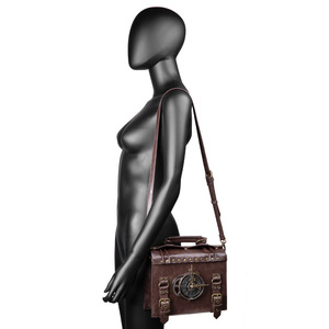 Image 5 - Norbinus Steampunk אחת כתף שקיות בציר נשים תיקי גותי שליח Crossbody תיק גבירותיי מסמרה למעלה ידית שקיות חבילה