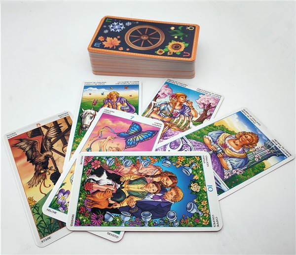 English Wheel Of Year Read Fate Tarot Card For Personal Use Board Game 78-card