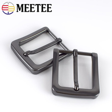 Meetee 2/5pcs ID35mm Metal Pin Buckles Belt Head for 33-34mm DIY Replacement leather Craft Jeans Decor Accessories YK024