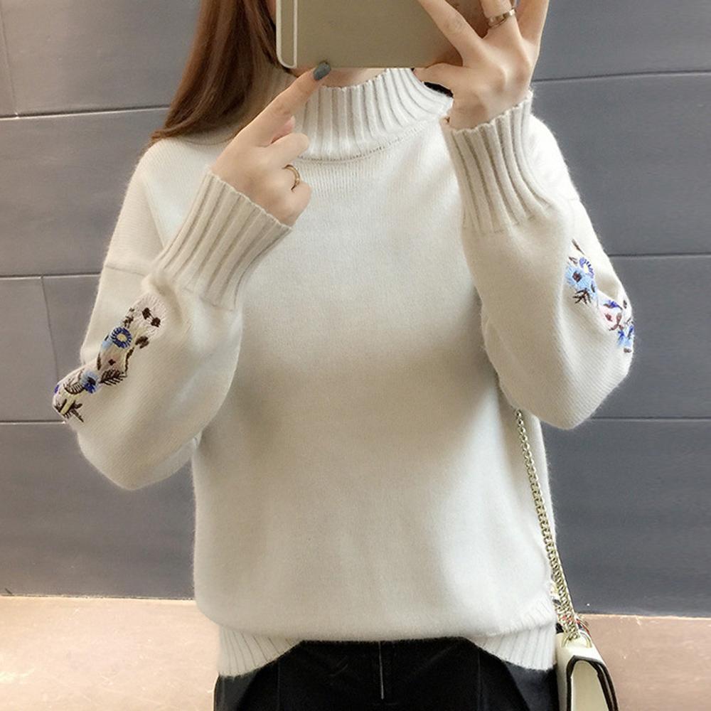 Shiny Lurex Autumn Winter Sweater Women Long Sleeve Pullover Women Basic Sweaters Turtleneck 2019 Korean Style Knit Tops Femme