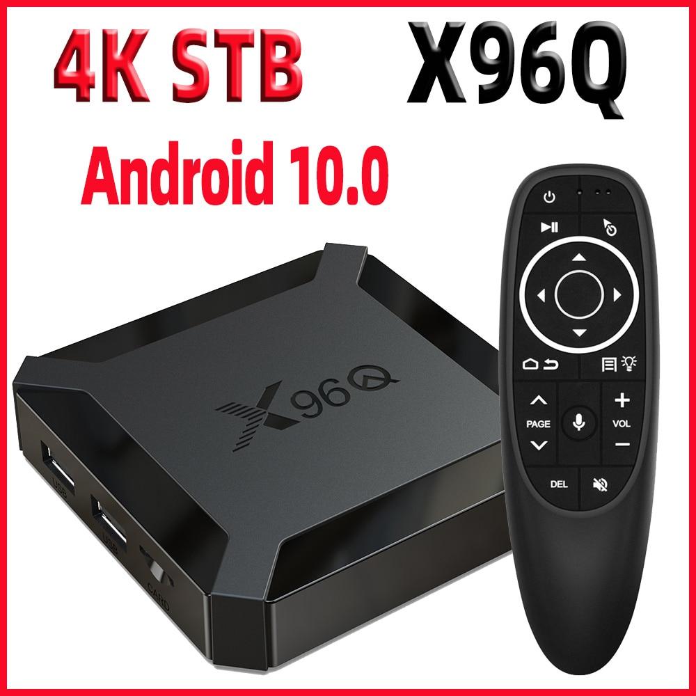 TV Box Android 10 Smart tv box X96Q mini TvBox Allwinner H313 Quad Core 4K 60fps 2,4G Wifi google Player Youtube Netflix pk X96