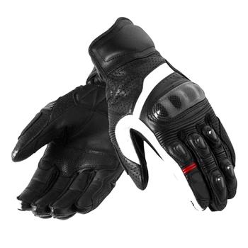 Rękawice z włókna węglowego na motocyklowy wyścigowy Chevron Cross-Country ochronne rękawice skórzane na motocyklowy wyścigowy tanie i dobre opinie GYMARK CN (pochodzenie) Z pełnym palcem Unisex