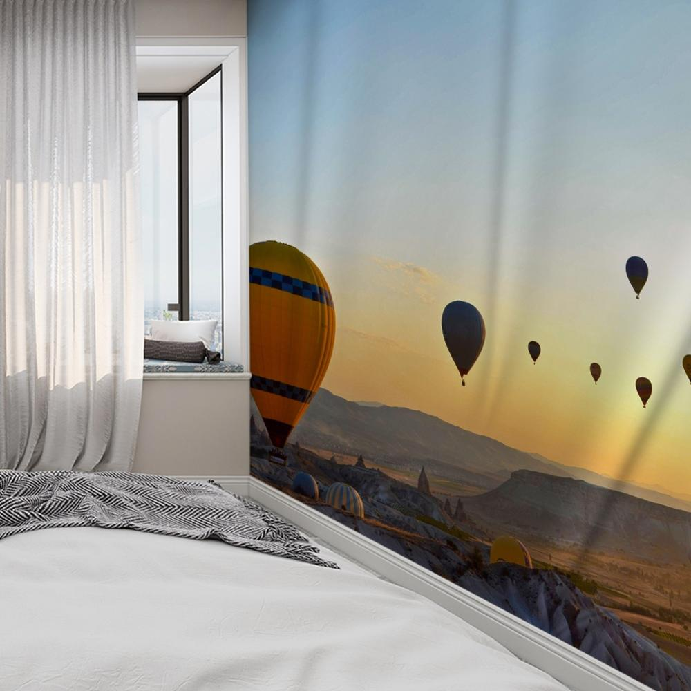 Hot Air Balloon Animal Marine Natural Forest Mandala Wall Hanging Bedroom Travel Camping Psychedelic Tablecloth 4 Sizes