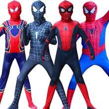 Fantasia миль Моралес костюм паука для мальчиков с рисунком