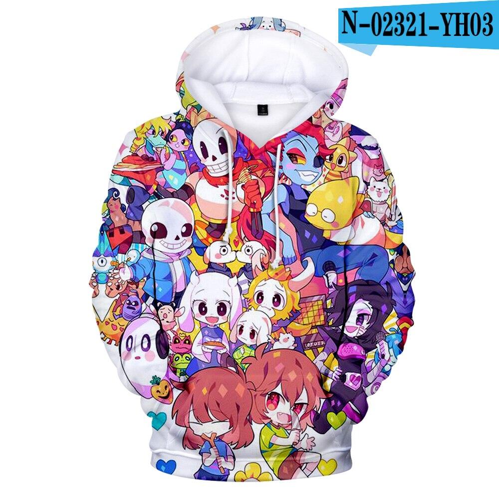 Hot Sale Children Hoodies Undertale Latest Hoodie Men/women 3D Printed Hoodies Undertale Sweatshirts High Quality Streetwear