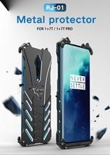 Oneplus 7 T kılıf Oneplus 7 T Pro kapak durumda R JUST ağır zırh BATMAN darbeye dayanıklı Metal alüminyum telefon kılıfları oneplus 7 T