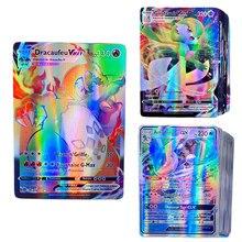Jeu de cartes pokémon françaises, étiquette équipe GX Vmax, brillantes, jeu de commerce, jeu de combat, jouet pour enfants, 500 pièces