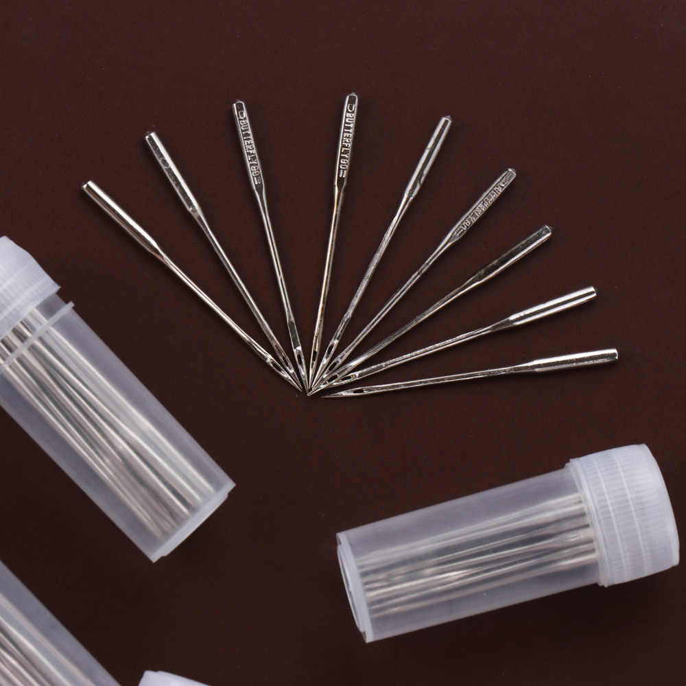 50Pcs/Set DIY Stainless Steel Domestic Sewing Machine Needles Threading Stitch Pins Handcraft Sew Accessories Household Supplies