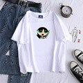 Женские футболки в стиле Харадзюку, хлопковые футболки унисекс с мультяшным принтом, в стиле хип-хоп, ольччан, корейский стиль, 2021