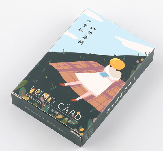 52mm*80mm Girl Note Paper Greeting Card Lomo Card(1pack=28pieces)
