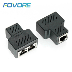 1 To 2 Ways LAN Ethernet Network Cable RJ45 Female Splitter Connector Adapter For Laptop Docking Stations