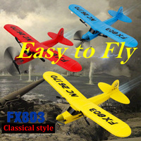 Hotty Toy FX803 Avion Remote Control RC Plane Glider Aerodone Toy Children Audult 150m Foam Airplane Red Blue Battery RC Drones