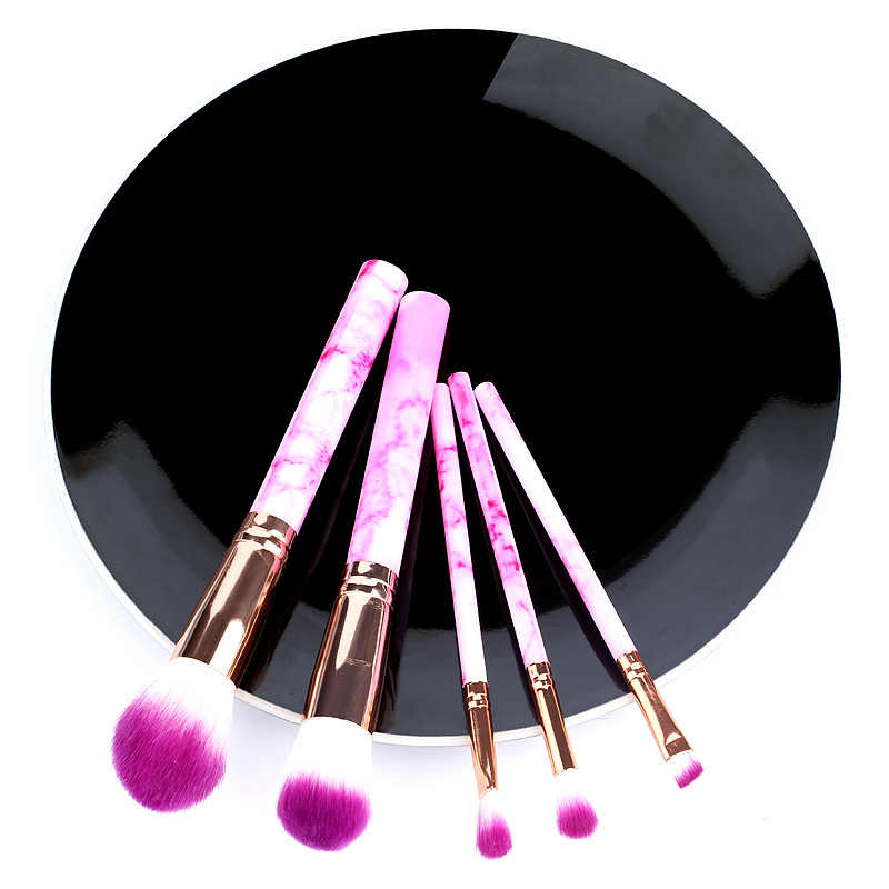 5 stücke Weichen Satz Von Make-Up Pinsel kits Für Highlighter Eye Kosmetik Powder Foundation Lidschatten Kosmetik Professionelle Augenbrauen