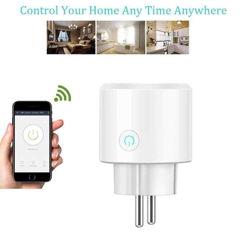WIFI inteligentne gniazdo zasilania bezprzewodowa kontrola aplikacji czasu amazon alexa/Google Home EU