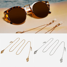 Fashion Golden Sunglasses Chain Glasses Rope Leaves Silver Glasses Hanging Chain Sunglass Necklace Eyewear Retainer Accessories(China)